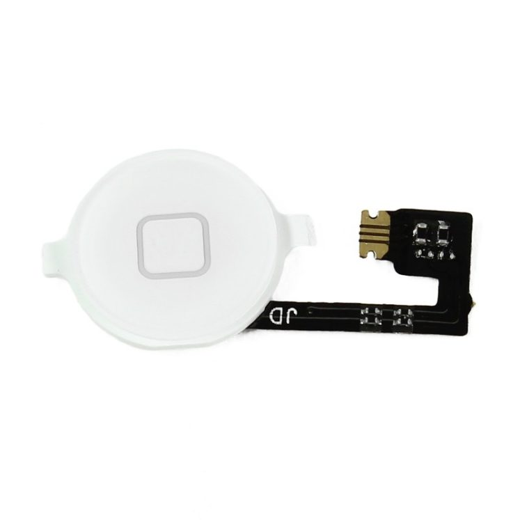 Bouton home blanc + nappe – iPhone 4