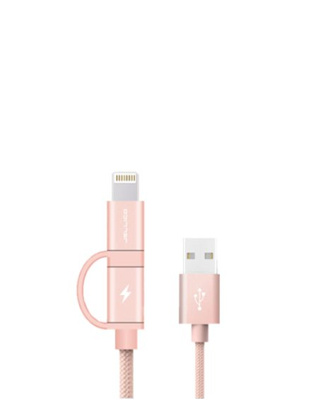 Câble 2 en 1 Lightning – Micro Usb