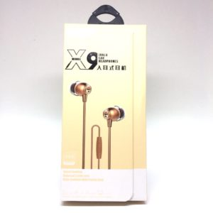 Ecouteur audio X9 Or