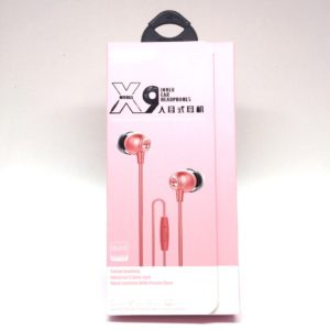 Ecouteur audio X9 Rose